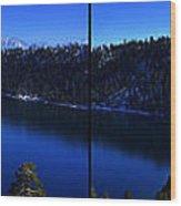 Emerald Bay Panorama Lake Tahoe Wood Print