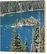Emerald Bay Vertical Wood Print