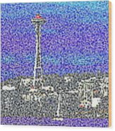 Emerald City Sailing Wood Print