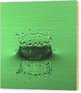 Emerald Crown Wood Print