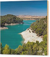 Emerald Lake. El Chorro. Spain Wood Print