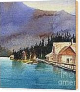 Emerald Lake Lodge B.c Wood Print