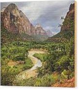 Emerald Pools Trail 3 Wood Print