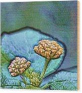 Emerald Stamped Floret Wood Print