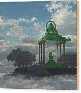 Emerald Throne Wood Print