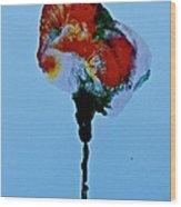Emerging Flower Wood Print