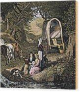 Emigrants: Appalachians Wood Print