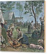 Emigrants: Arkansas, 1874 Wood Print by Granger