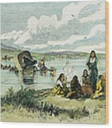 Emigrants In Nebraska, 1859 Wood Print by Granger