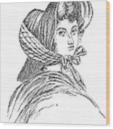 Emily Bront� (1818-1848) Wood Print by Granger