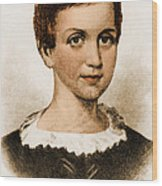 Emily Dickinson, American Poet Wood Print by Photo Researchers