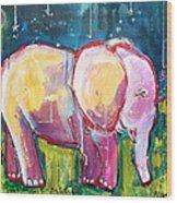 Emily's Elephant 1 Wood Print