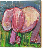 Emily's Elephant 3 Wood Print