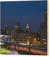 Empire State From High Line Wood Print