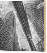 Empire State Reflection Wood Print