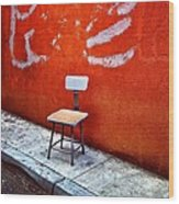 Empty Chair Wood Print