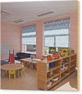 Empty Estonian Elementary Grade School Wood Print