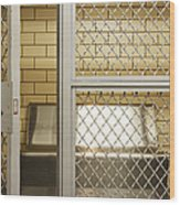 Empty Jail Holding Cell Wood Print