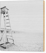 Empty Life Guard Tower 2 Wood Print