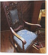 Empty Rocking Chair Wood Print