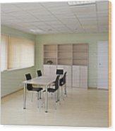 Empty School Classroom Wood Print