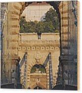 Empty Stone Bridge Wood Print