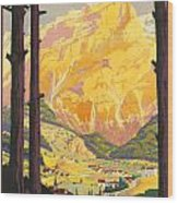 En Tarentaise - Vintage French Travel Wood Print