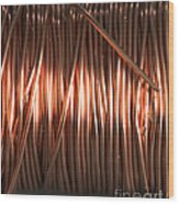 Enamel Coated Copper Wire Wood Print by Photo Researchers