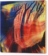 Encaustic 467 Wood Print