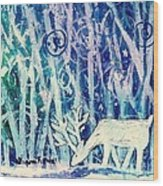 Enchanted Winter Forest Wood Print