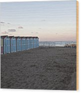 End Of Day - Mondello Beach Wood Print