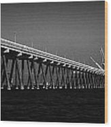 End Of The Jetty At Cloghan Point Oil Terminal In Belfast Lough Northern Ireland Uk Wood Print