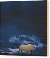 Endangered Northern White Rhinoceros Wood Print by Michael Nichols