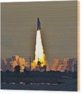 Endeavor Blast Off Wood Print