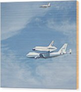 Endeavour's Final Flight Wood Print