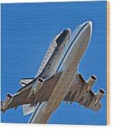 Endeavour's Last Flight Wood Print