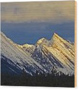 Endless Chain Ridge, Icefields Parkway Wood Print