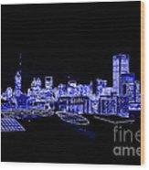 Energetic Atlanta Skyline - Digital Art Wood Print