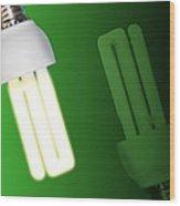 Energy-saving Light Bulbs, Artwork Wood Print by Victor Habbick Visions
