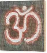 Energy Symbol Om Aum Wood Print