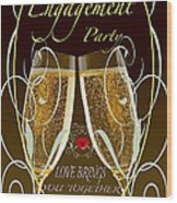 Engagement Party Card Wood Print
