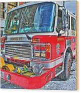 Engine 34 Readied Up Wood Print