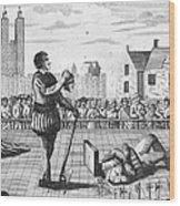 England: Beheading, 1554 Wood Print