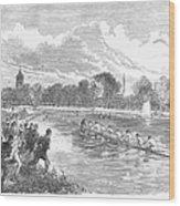 England: Boat Race, 1866 Wood Print