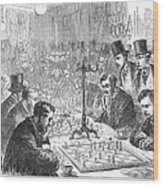 England: Chess Match Wood Print