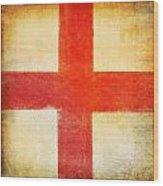 England Flag Wood Print
