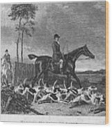 England: Fox Hunt, 1832 Wood Print