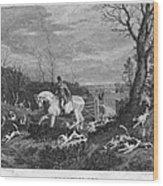 England: Fox Hunt, 1833 Wood Print by Granger