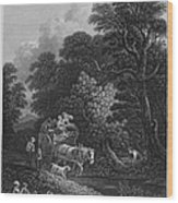 England: Market Cart Wood Print