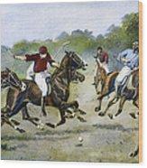 England: Polo, 1902 Wood Print